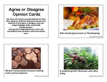 Agree or Disagree Opinion Cards