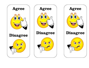Agree/Disagree Hold-Up Response Cards
