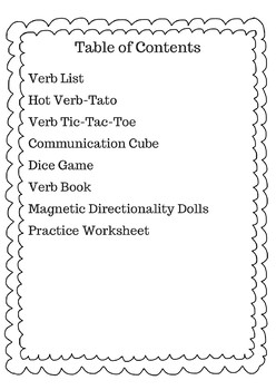 Agreement Verbs for Novice Learners - ASL Lesson Activity