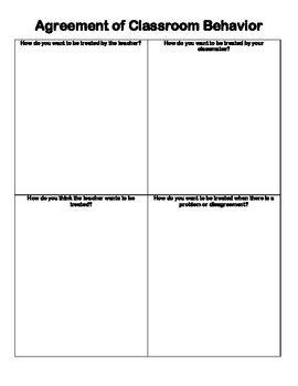 Agreement of Classroom Behavior