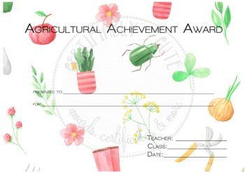 Agricultural Achievement Award