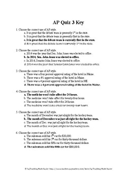 Agricultural Communications CDE: AP Style Quiz 3