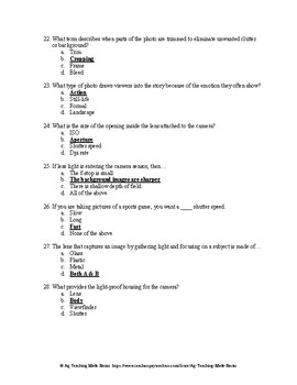 Agricultural Communications CDE: CIMC Test Question Bank - Chapter 2