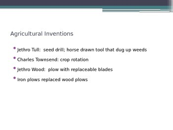 Agricultural and Industrial Revolution Notes