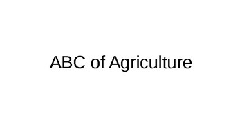 Agriculture - ABC Notes