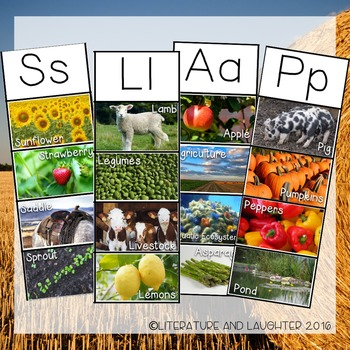 Agriculture Alphabet Writing Cards