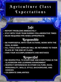 Agriculture Class Expectations-BlueFlower