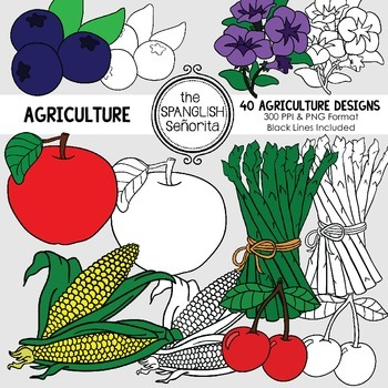 Agriculture {Digital Clip Art for Commercial Use}