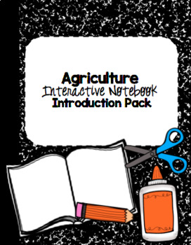 Agriculture Interactive Notebook Introduction Pack