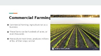 Agriculture - Pro's and Con's of Commercialism