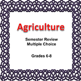 Digital Agriculture Semester Review Game Multiple Choice, 6, 7, 8, Editable