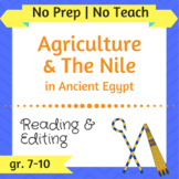 Agriculture and the Nile in Ancient Egypt - Inquiry-Based,