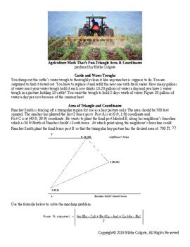 Agriculture themed Math worksheet