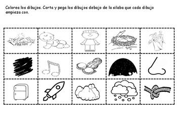 Agrupando Silabas paquete  2 Sorting Syllables packet 2