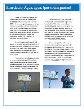 Agua, agua. . . Solving the water shortage in Lima, Peru