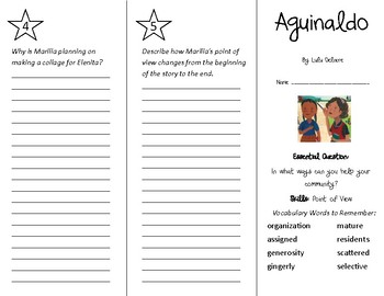 Aguinaldo Trifold - Wonders 4th Grade Unit 3 Week 2
