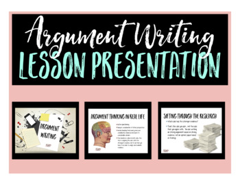 Agumentative Essay Research and Writing Lesson Presentation Slides