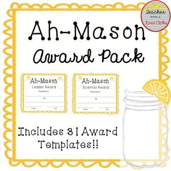 Mason Jar Themed Award Pack