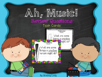 Ah, Music! Review Task Cards for Houghton Mifflin Journeys