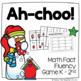 Ah-choo! Snowman Math Fact Fluency Practice Game | Add and Subtract within 20