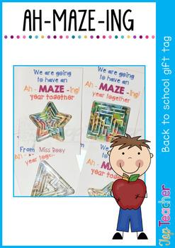 Ah-maze-ing start gift tag