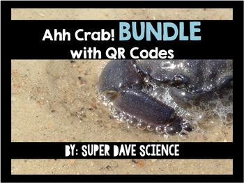 Ahh Crab! QR Code Review Card Game Life Science Bundle Set (7 Sets)