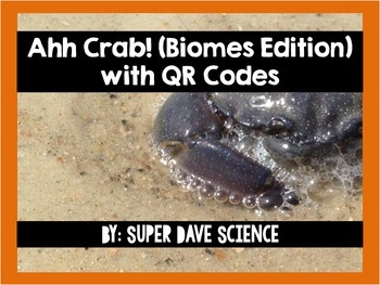 Ahh Crab! QR Code Review Card Game Biomes Edition