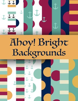 Ahoy! Bright Nautical Themed Backgrounds