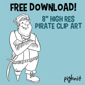 Ahoy! FREE Pirate Character Clip Art