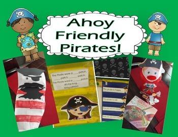 Pirate Math Reading Activities For Preschool and Kindergarten - Bingo too!