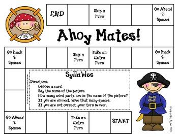 Ahoy Mates Game--Syllables