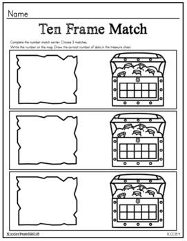 Ahoy Mates! Pirate Math Centers for Kindergarten