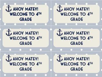 Ahoy Matey Gift Tags