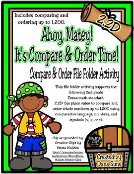 Ahoy, Matey!  It's Compare and Order Time! (TEKS 2.2D)