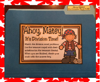 Ahoy, Matey!  It's Division Time! File Folder Activity (TEKS 4.4H)