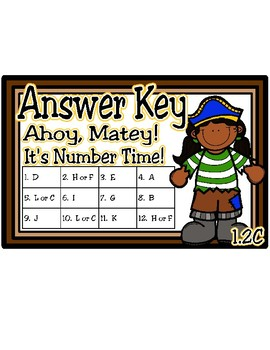 Ahoy, Matey!  It's Number Time (to 20) (TEKS 1.2C)