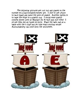 Ahoy Matey!  Long Vowel Pirate Sort