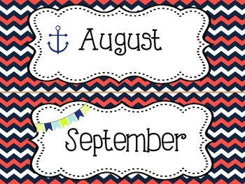 Ahoy Matey - Nautical Themed Calendar