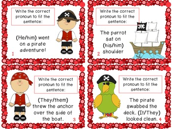 """Ahoy Matey!"" Pirate Pronouns Activity Packet (CC Aligned)"
