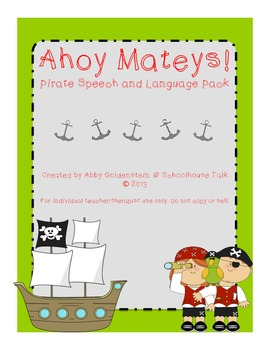Ahoy Matey! Pirate-Themed Speech and Language Packet
