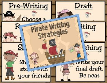 Ahoy Matey! Pirate Themed Writing Posters 2 (Aussie version included)