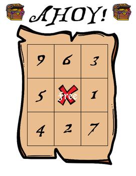 Ahoy! Math Bingo