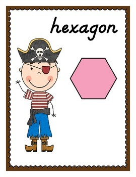 Ahoy, Maties! Pirate Themed 2D & 3D Shape Posters