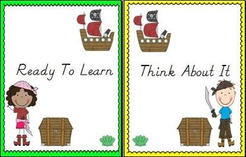 Ahoy, Maties! Pirate Themed Behavior Clip Chart