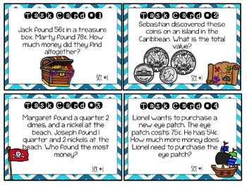 Ahoy! Money Task cards & Activities