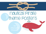 Ahoy! Nautical Pirate Posters