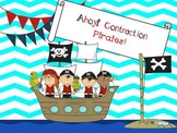 Ahoy!  Pirate Contractions Games and Practice Sheets