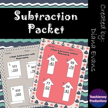 Subtraction Practice Bundle