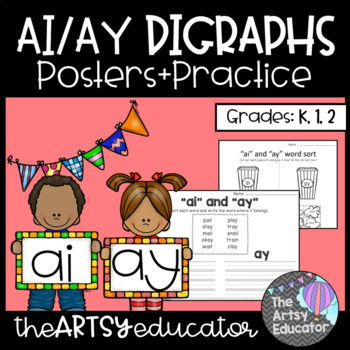 AI and AY Digraph Word Work *FREEBIE*