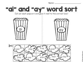 AI and AY Digraph Word Work